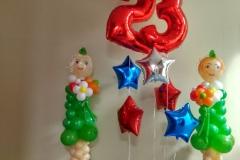 Оформление шарами Месье Шар 23 февраля коллекторской компании-min