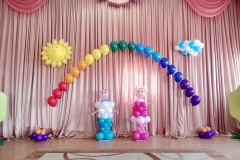 Оформление шарами Месье Шар детский сад 38-1-min