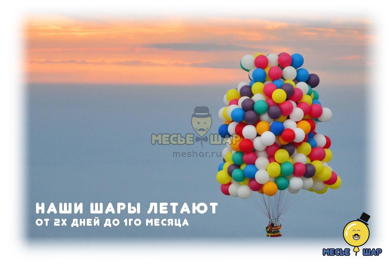 Воздушные шары летают до месяца