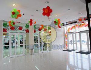 Украшение зала воздушными шарами в Санкт-Петербурге