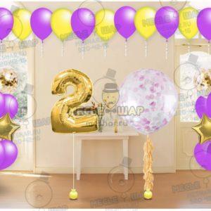 Пакет №18 из воздушных шаров с гелием