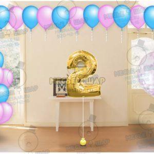 Пакет №13 из воздушных шаров с гелием