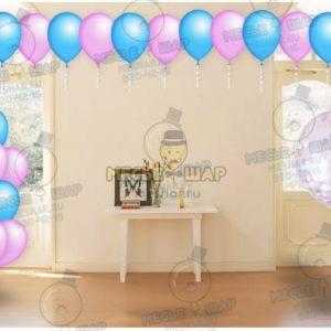 Пакет №7 из воздушных шаров с гелием
