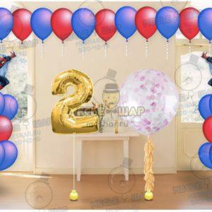 Пакет №17 из воздушных шаров с гелием
