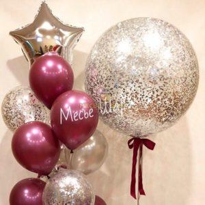 Фонтан Бургунди из воздушных шаров