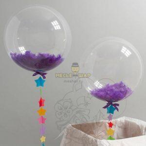 Кристальный Баблс с фиолетовыми перьями