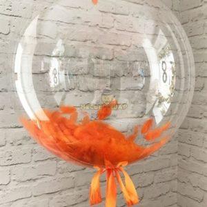 Кристальный Баблс с оранжевыми перьями