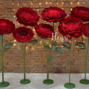 Лес цветов Марсала на свадьба - аренда в сутки