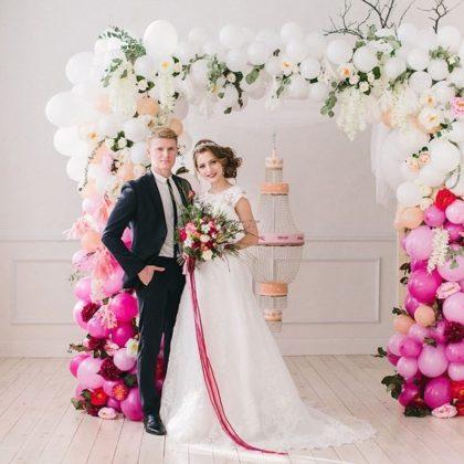 Арка нежность на свадьбу из шаров