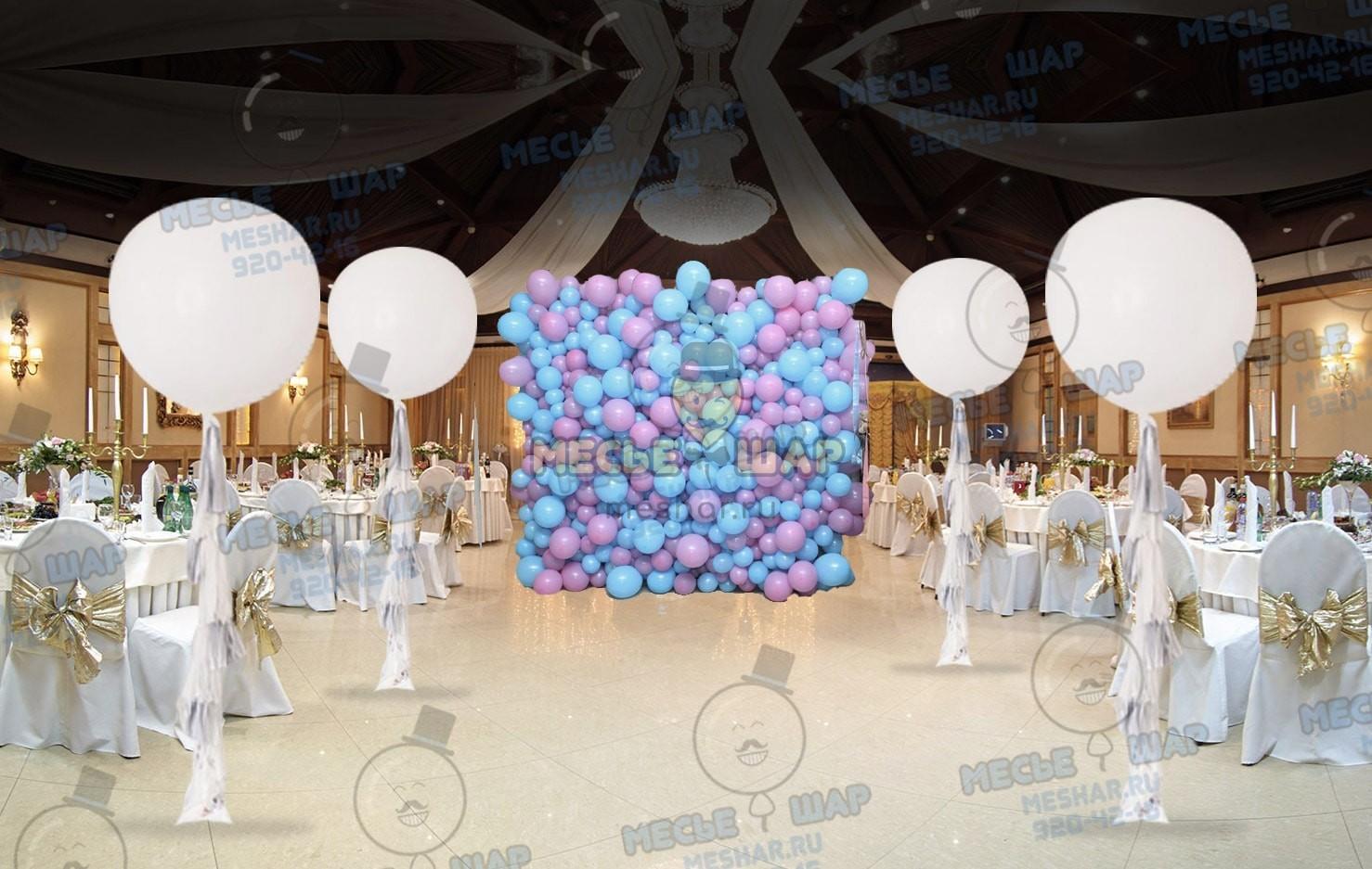 Свадебный пакет из воздушных шаров 10