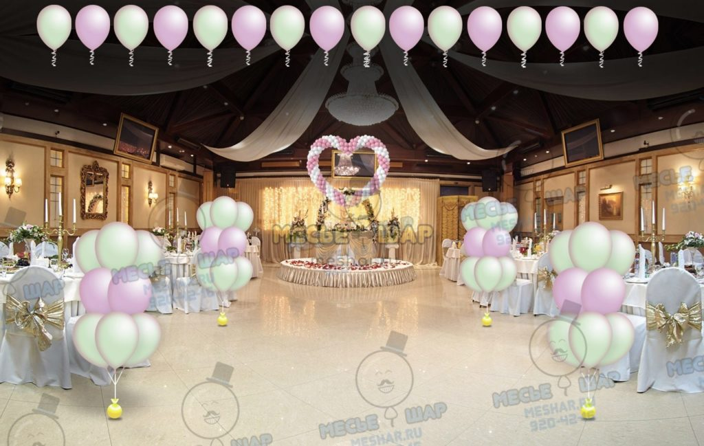 Свадебный пакет из воздушных шаров 3
