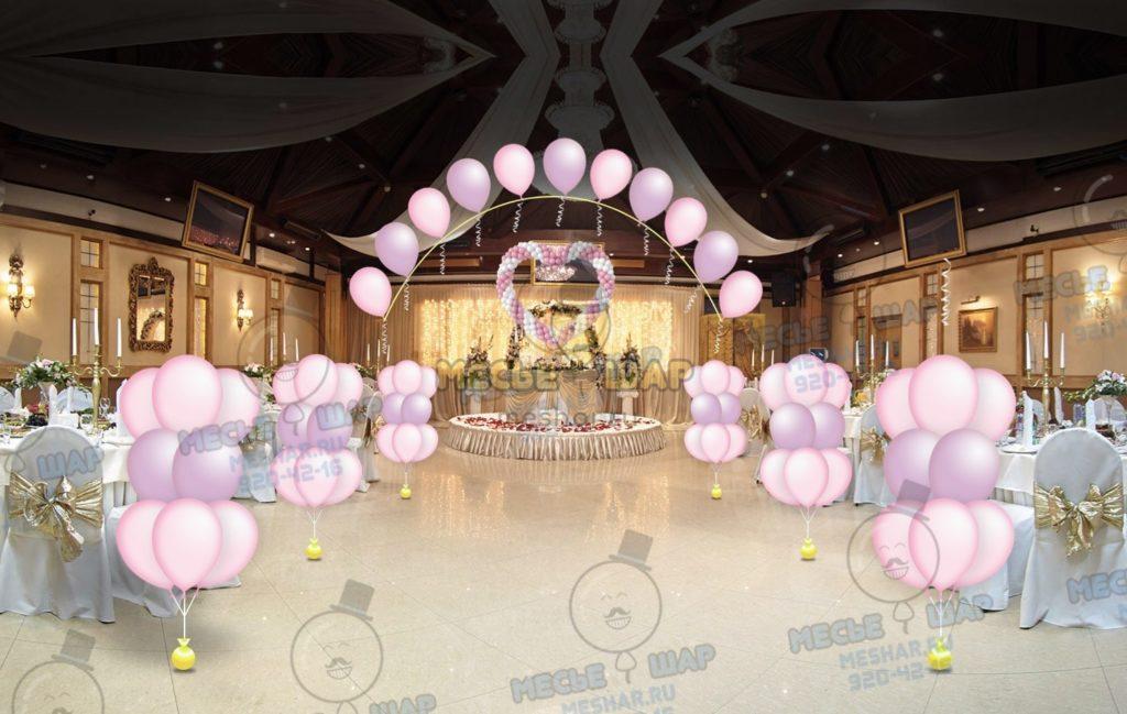 Свадебный пакет из воздушных шаров 4