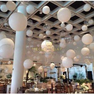 Воздушные капли из шариков на свадьбу