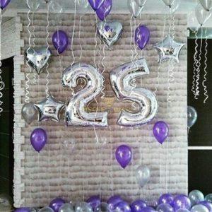 Композиция #1 из шаров на День рождения