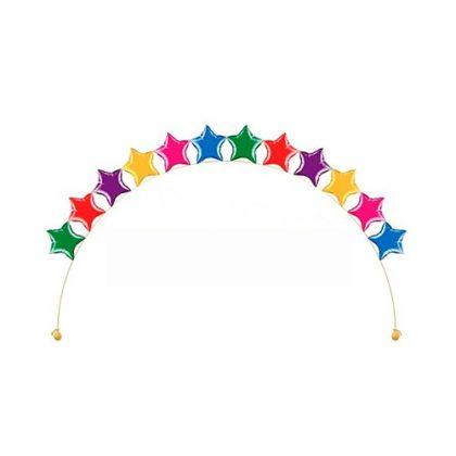 Звезды цепочкой из воздушных шаров