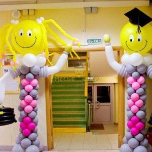 Ученик из шаров на выпускной