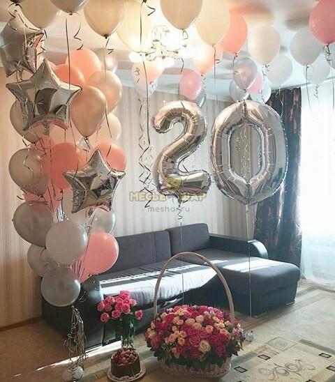 Композиция #10 из шаров на День рождения