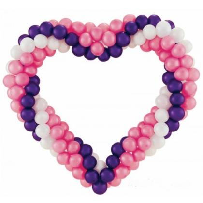 Сердце из шаров к 14 февраля