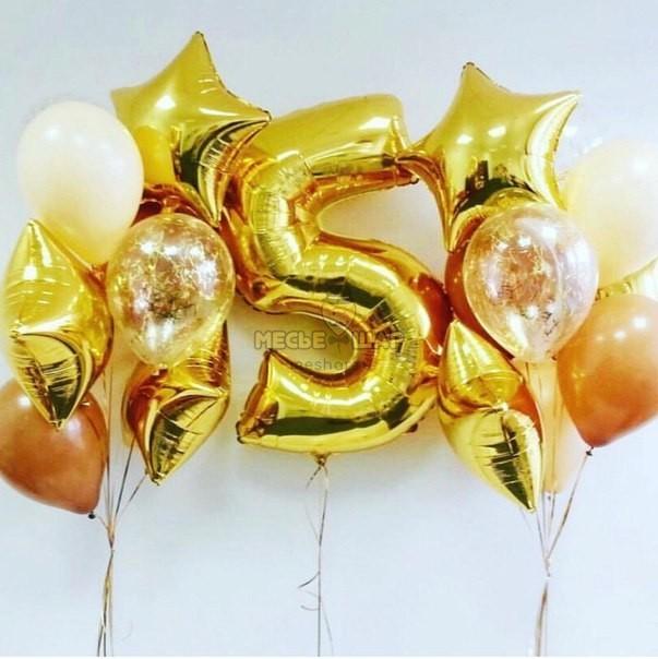 Золотой набор из шаров детям