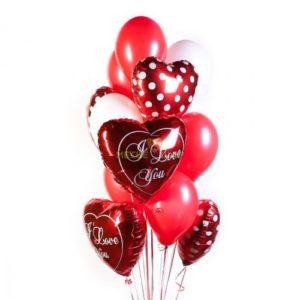 Фонтан из сердцец к 14 февраля