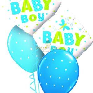 Фонтан Baby (мальчик) из шаров на выписку
