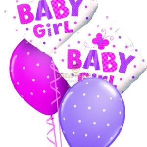Фонтан Baby (девочка) из шаров на выписку