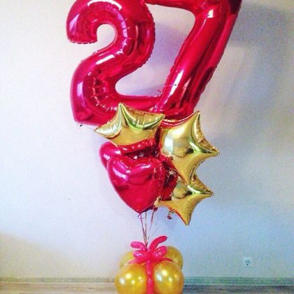 Композиция #5 из шаров на День рождения