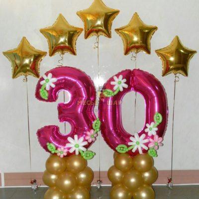 Композиция #6 из шаров на День рождения