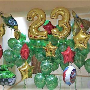 Локация из шаров к 23 февраля