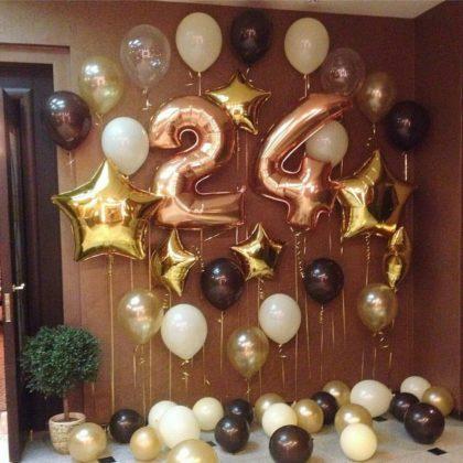 Композиция #8 из шаров на День рождения