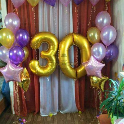 Композиция #9 из шаров на День рождения
