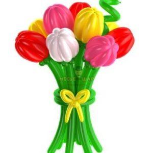 9 тюльпанов из шаров
