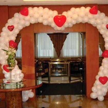 Арка Сердце из шариков