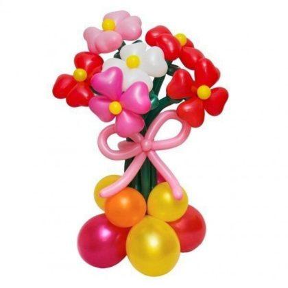 Астры разные 7 штук из шаров