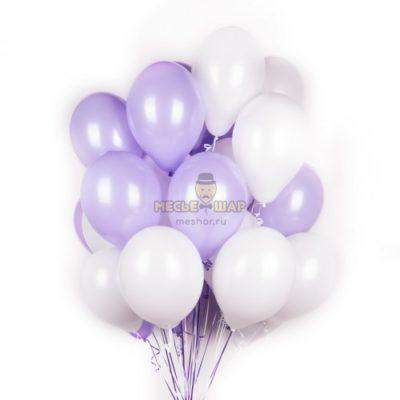 Бело-фиолетовое облако из шаров