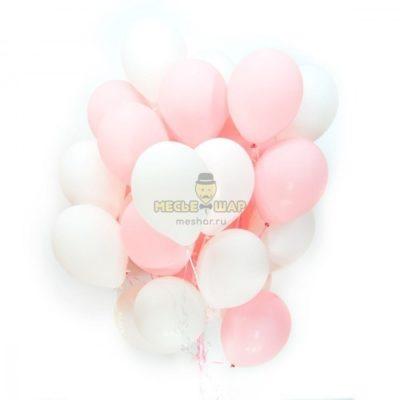 Бело-розовое облако - 30 шаров