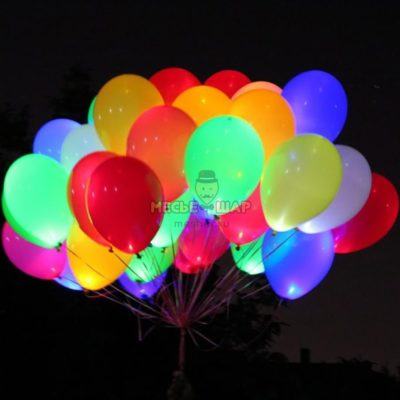 Светящиеся шары цветные