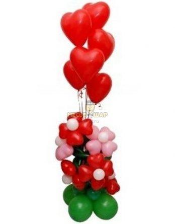 Цветочная любовь из шаров