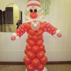 Дед Мороз из шаров на Новый год