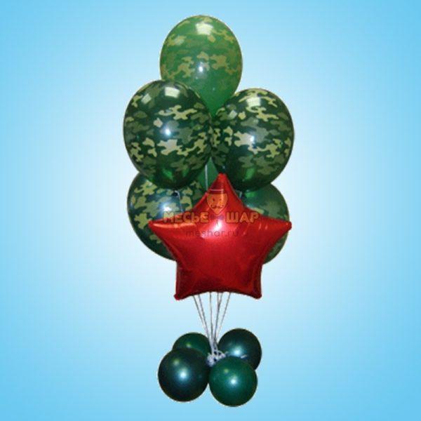 Фонтан из шаров #1 к 23 февраля