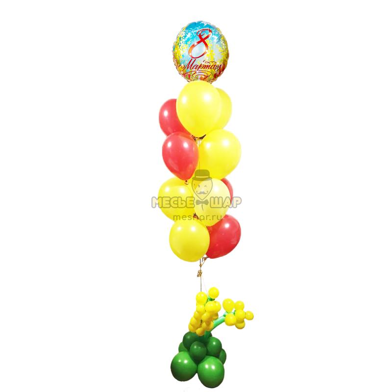 Фонтан с 8 марта из шариков