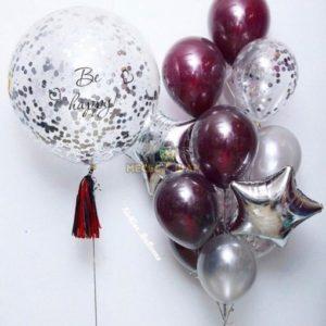 Гигант + фонтан из шаров для женщин