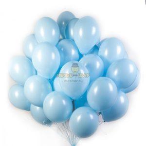 Голубое облако из шаров (30шт)