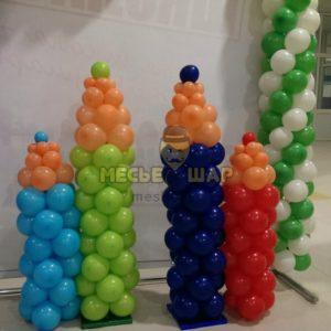 Карандаши из шаров на выпускной