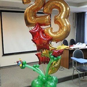 Композиция из шаров #1 к 23 февраля