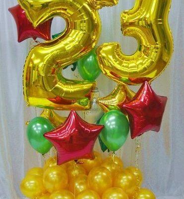 Композиция из шаров #2 к 23 февраля