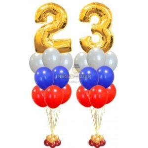 Композиция из шаров #3 к 23 февраля