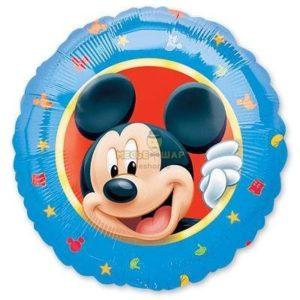 Фольгированный шар Микки Маус в круге