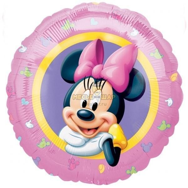 Фольгированный шар Минни Маус в шаре