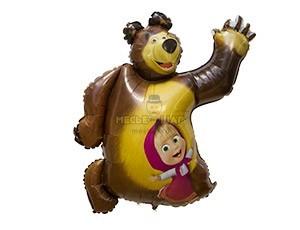 Фольгированный шар Маша и медведь
